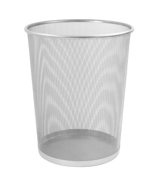 Osco Silver Wiremesh - Round Bin 35 cm High - 18.3L