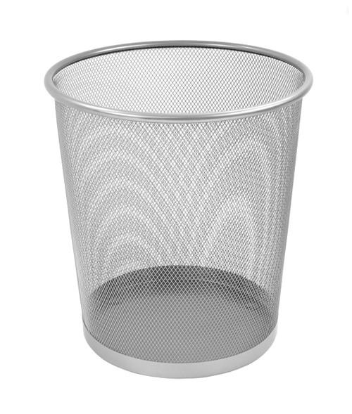 Osco Silver Wiremesh - Round Bin 27.5 cm High - 10.9L