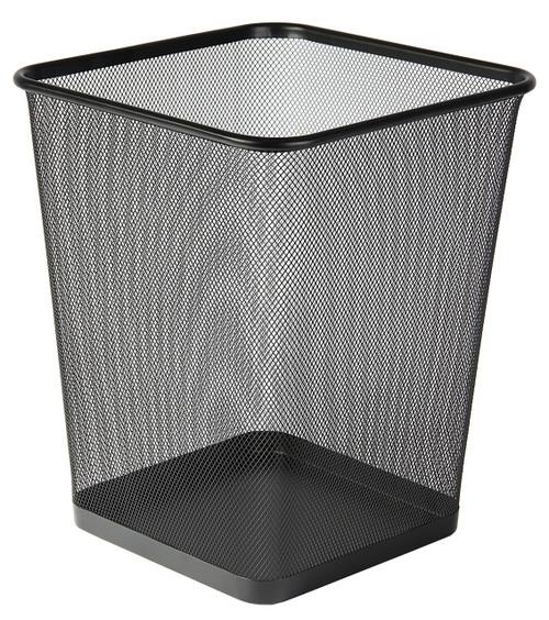 Osco Black Wiremesh - Square Bin 25cm High - 12.2L