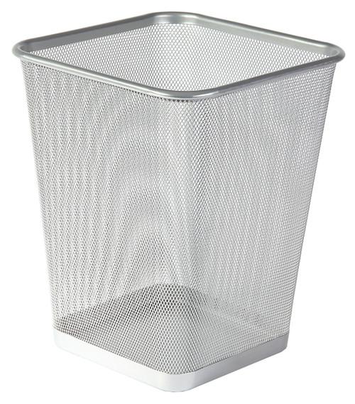 Osco Silver Wiremesh - Square Bin 25cm High - 12.2L