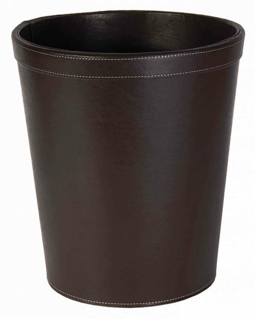 Osco Brown Faux Leather - Round Bin - 10.5L