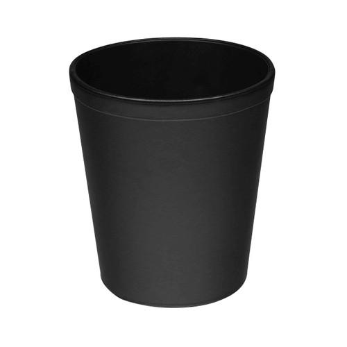 Osco Black Faux Leather - Round Bin - 10.5L