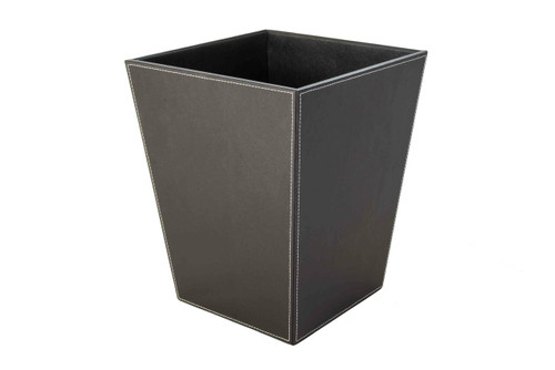 Osco Brown Faux Leather - Square Bin - 11.5L