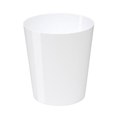 Osco High Gloss White Plastic 29cm Bin - 11.3L