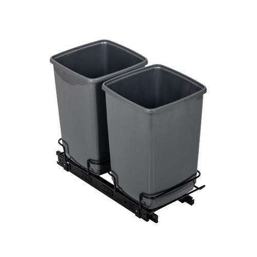Addis In-Cupboard Recycling Bin - 2 x 10L Bin Bases- Grey