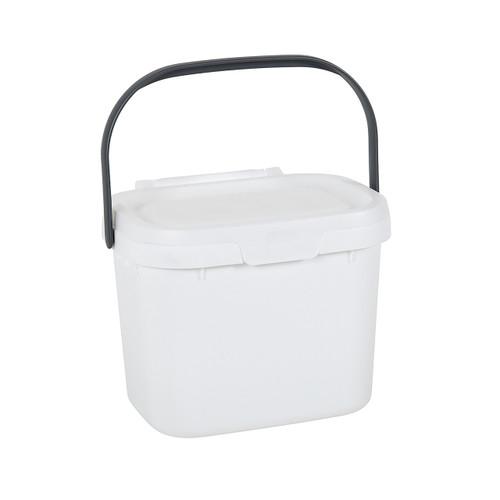 Addis Kitchen Caddy - 4.5 Ltr - White/Grey