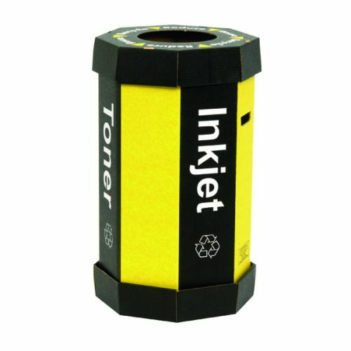 Acorn Cartridge Recycling Bin - 60 Litres - Black/Yellow