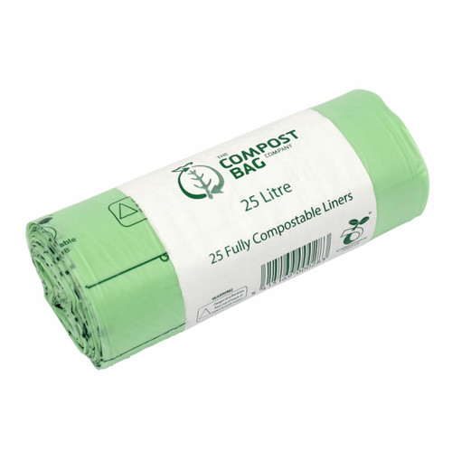 All-Green Compost Bag Compostable Kerbside Caddy Bags - 25 Ltr
