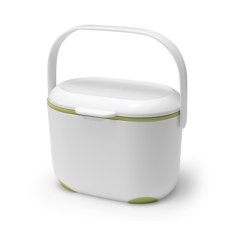Addis Compost Caddy - 2.5 Ltr - White/ Green