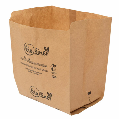 All-Green Bioliner Compostable Paper Caddy Bags - 3/5 Ltre