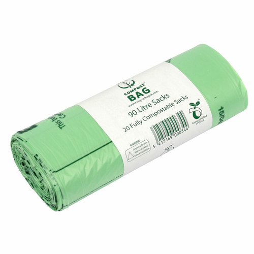 All-Green Compost Bag Compostable Commercial Food Waste Sacks - 90 Ltr