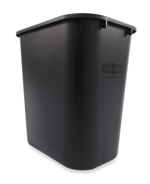 Rubbermaid Rectangular Wastebasket 26.6 L - Black