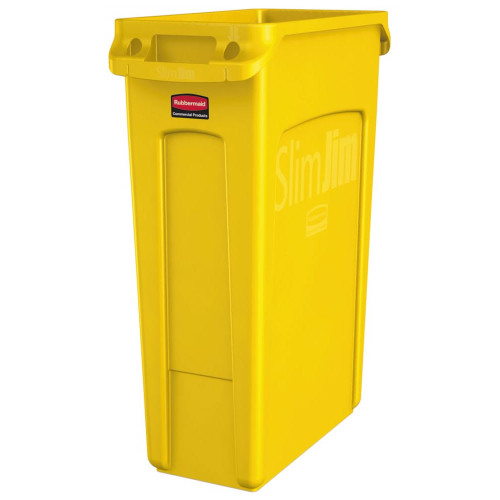 Rubbermaid Slim Jim Waste Container 87 L - Yellow