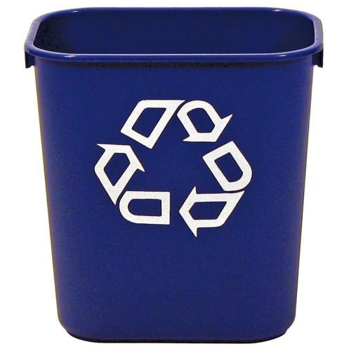 Rubbermaid Rectangular Wastebasket 12.9 L - Blue