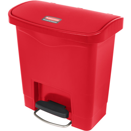 Rubbermaid Slim Jim 15L Resin Front Step Step-On Red