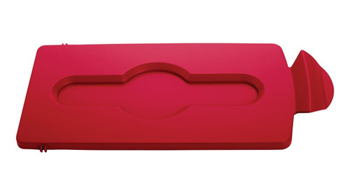 Rubbermaid Slim Jim Recycling Station Stream Topper - Red Closed Lid Insert