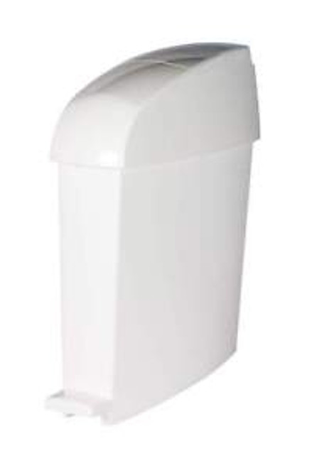 Rubbermaid Miniped 12L Capacity Bin  Front Opening Pedal-Operated - White