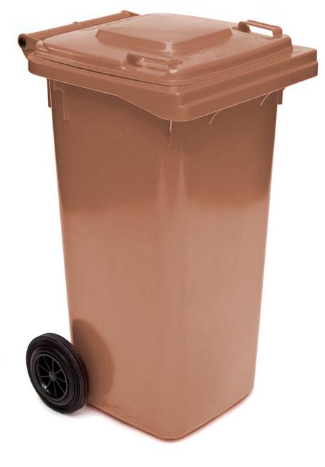 Brown Wheelie Bin - 140 Litre