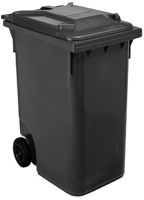 Black Wheelie Bin - 360 Litre