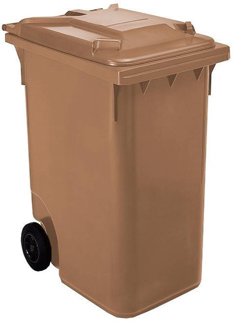 Brown Wheelie Bin - 360 Litre