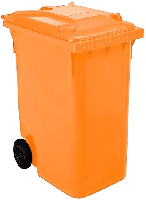 Orange Wheelie Bin - 360 Litre