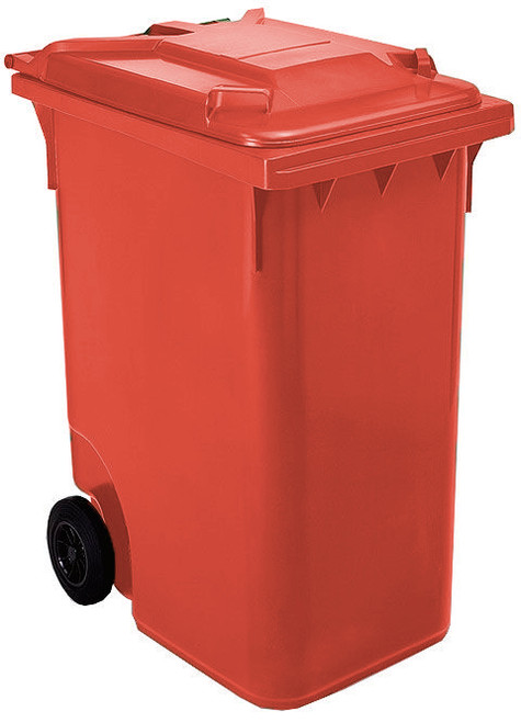 Red Wheelie Bin - 360 Litre