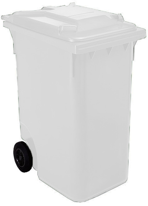White Wheelie Bin - 360 Litre