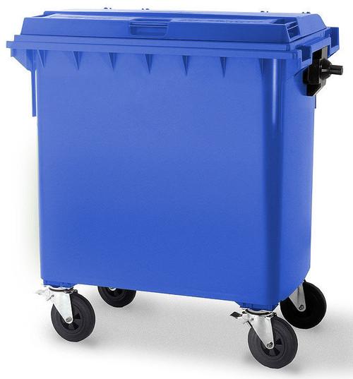 Blue Wheelie Bin - 660 Litre