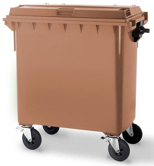 Brown Wheelie Bin - 660 Litre