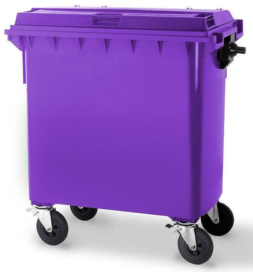 Purple Wheelie Bin - 660 Litre