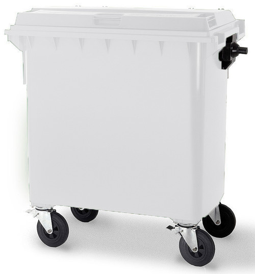White Wheelie Bin - 660 Litre