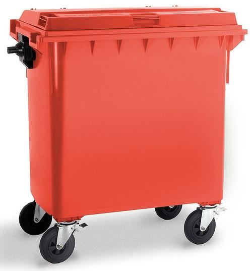 Red Wheelie Bin - 770 Litre