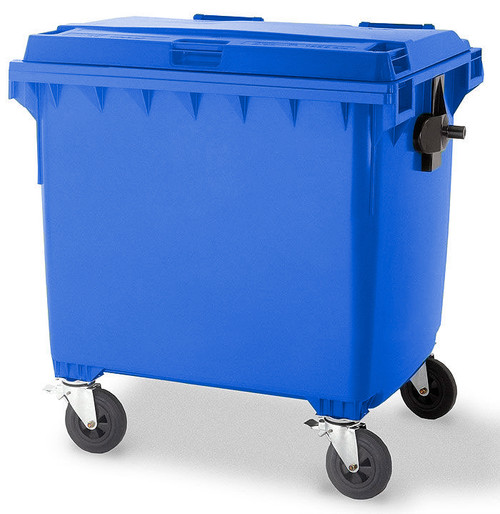 Blue Wheelie Bin - 1100 Litre