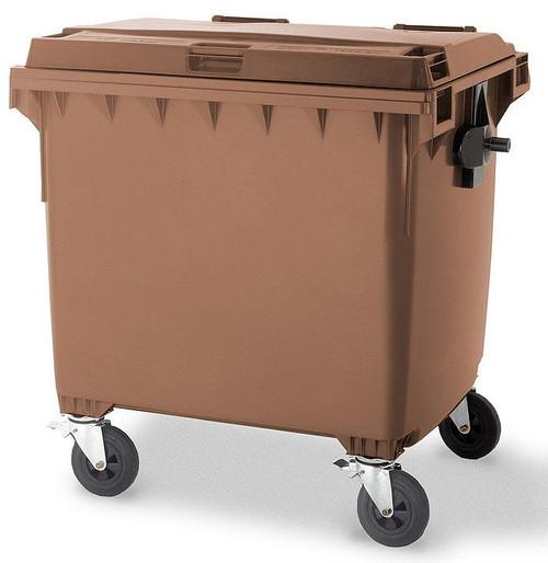 Brown Wheelie Bin - 1100 Litre