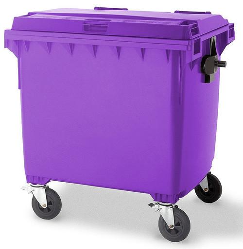 Purple Wheelie Bin - 1100 Litre