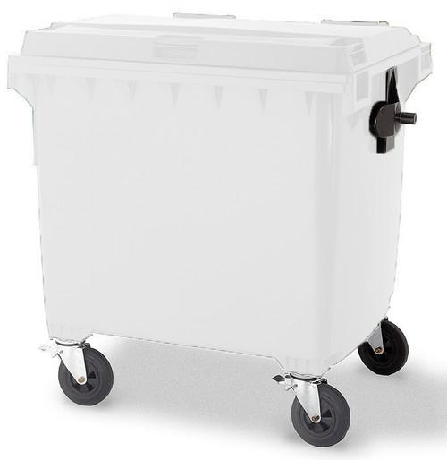 White Wheelie Bin - 1100 Litre