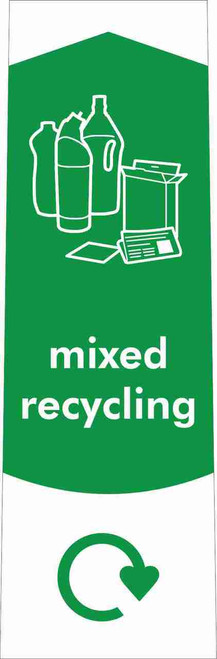 Slim Waste Stream Sticker - Mixed Recycling