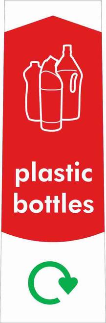 Slim Waste Stream Sticker - Plastic Bottles