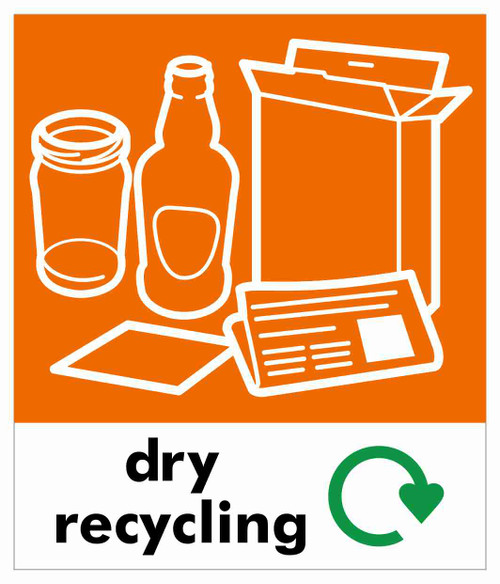 Small Waste Stream Sticker - Dry Recycling