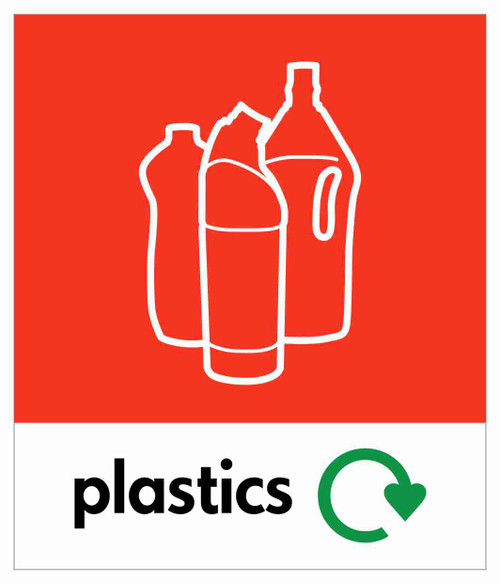 Small Waste Stream Sticker - Plastic Bottles