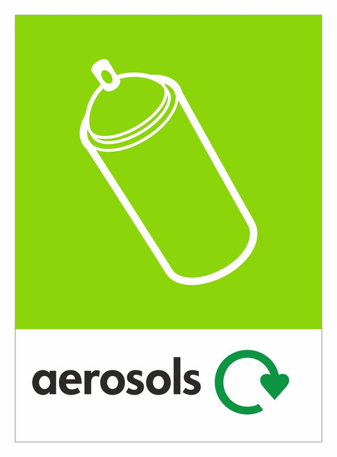 Large A4 Waste Stream Sticker - Aerosols