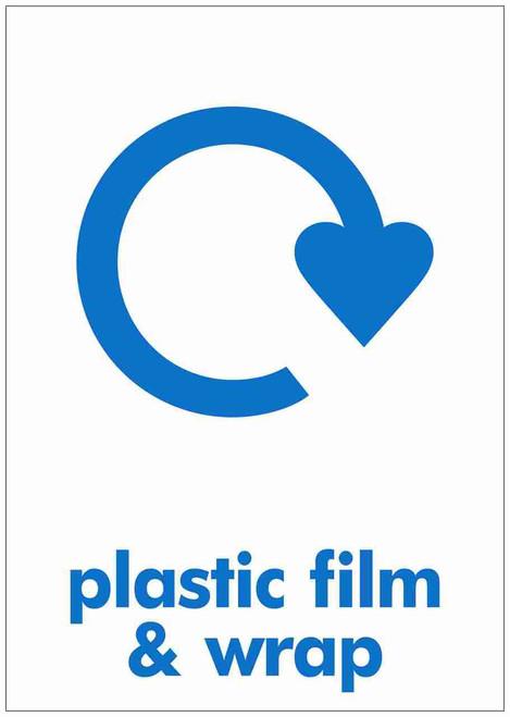 Large A4 Waste Stream Sticker - Plastic Film & Wrap