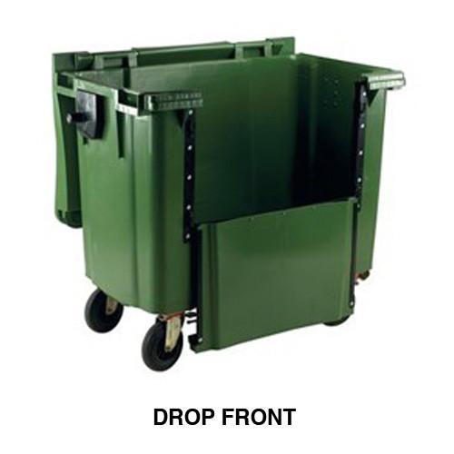 660 Litre Drop Front Wheelie Bin