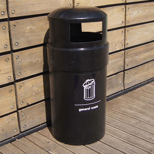 Wybone Wpd/3 Circular Polythene Domed Top Litter Bin/Recycling Unit