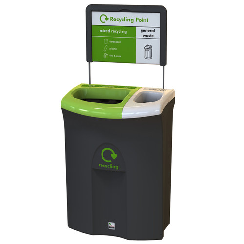 Leafield Meridian 70/30 Open Mixed recycling/Open general waste- 110 Litre