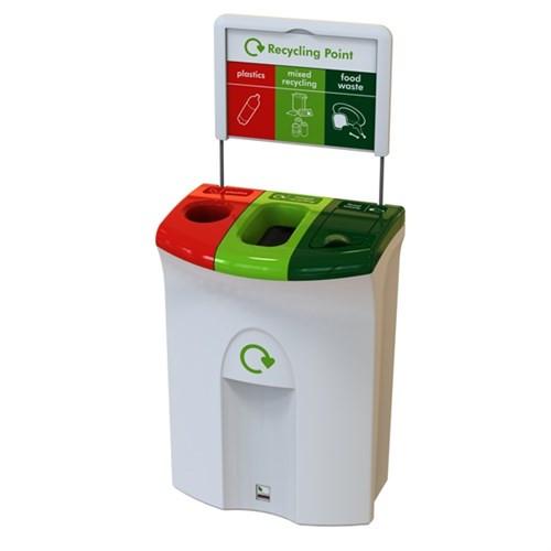 Leafield Meridian 30/40/30 Hole Plastics/Open Mixed Recy/Lift Food- 110 Litre