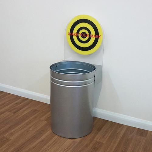 Wybone Cwb Circular Target Bins Cans Option 1 (Silver, 2 Stickers)