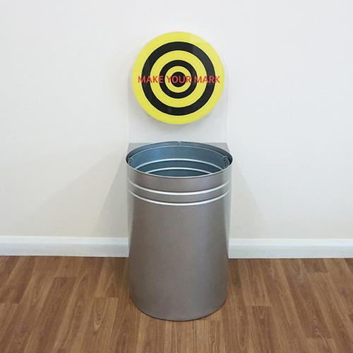 Wybone Cwb Circular Target Bins Cans Option 2 (Silver, 1 Sticker)