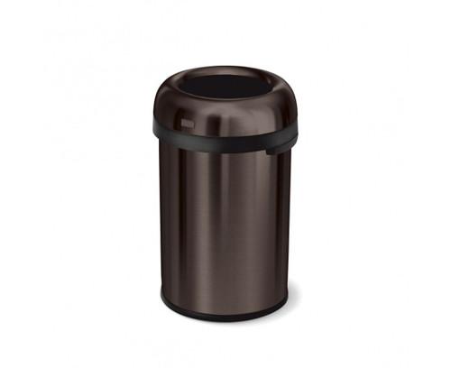 simplehuman Bullet Open Bin 115 Litre, Heavy-Gauge Dark Bronze Steel - CW1472