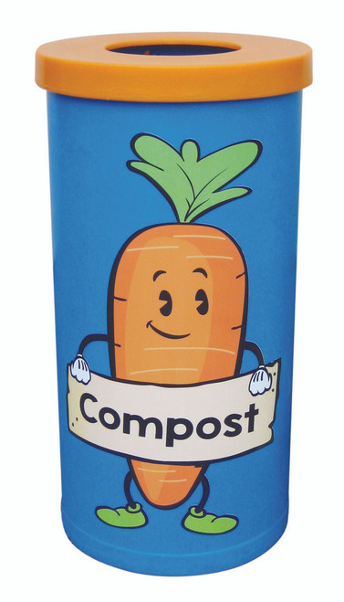 Theme Bins Popular with Compost Recycling Graphic for Indoor Use - 70 Litres